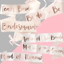 2019 pajarita cubierta de strass Team Bride Hen Party Sash Sashes Las niñas hacen accesorios nocturnos Bachelorette Partys