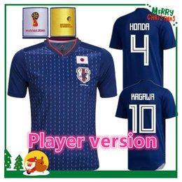 Wholesale Japan 18 - Player version 2018 Japan KAGAWA HONDA Soccer jersey OKAZAKI HASEBE NAGATOMO 17 18 Japan home blue Football shirts