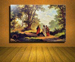 Wholesale Painting Canvas Jesus - Original New Home Decor Art HD Print Portrait Oil Painting Wall Decor Art on Canvas, XM25,Jesus Way To Emmaus   Unframed