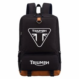 Canada WISHOT triumph moto sac à dos hommes femmes garçon étudiant sacs d'école voyage épaule sac ordinateur portable sacs bookbag sac occasionnel supplier moto pocket bags Offre