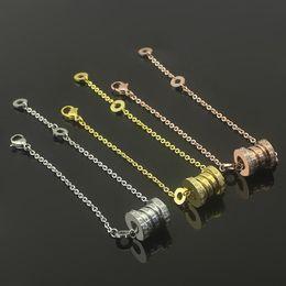 Nueva llegada 316L cadena de acero de titanio 1.1 * 1.0 cm pulsera de signo de primavera en broche de langosta para mujer y hombre pulsera en 20 cm de longitud joyería desde fabricantes