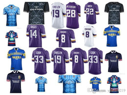 Wholesale gold vikings - 2018 NRL National League viking men's minnesota rugby jerseys top quality women youth kid american home football carson shirts Kirk Cou