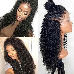 Wholesale Transparent Lace Glueless Wig - 250% Density 360 Lace Frontal Wigs For Black Women Brazilian Curly Pre Plucked 360 Lace Wig Glueless Human Hair Wigs (12 inch