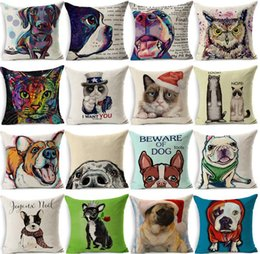 Wholesale Dachshund Pillow - Colorful Dog Cushion Dachshund Throw Pillow Uncle Cat I WANT YOU Cushion Queen Dog Christmas Gift Pet Home Decorative Pillows