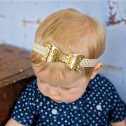 Wholesale Photographic Props - TWDVS Newborn Flower Headband Hair Bow Hairband Sequin Hair Accessories Headbands Photographic props w200