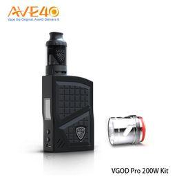 Wholesale wholesale electronic cigarette pro kits - 100% Orginal VGOD Pro 200W Kit with VGOD Pro 200W Box Mod 4ml VGOD Subtank Tank NEW Electronic Cigarettes Kit