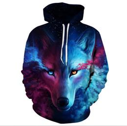 Wholesale wolf sweatshirt xl - Where Light And Dark Meet by JoJoesart Wolf 3D Hoodies Sweatshirts Men Women Hoodie Casual Tracksuits Fashion Brand Hoodie Coats