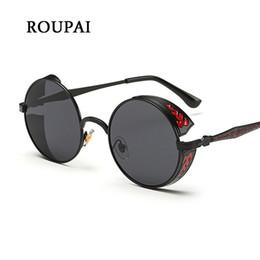 c677a7d52ef1a2 2019 lunette retro weinlese ROUPAI 2017 Runde Frauen Sonnenbrille Steampunk  Goggles Hohe Qualität Retro Vintage Sunwear