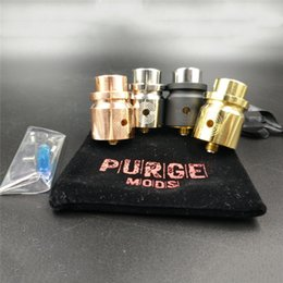Wholesale T Clamps - Headshot RDA clone 24mm Diameter 22mm Brass Deck Fits all AvidLyfe CompLyfe and Purge Caps Unique T-Clamp Centre Post Design for Vape Mods