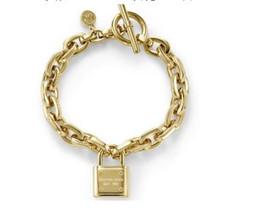 Joyería conmuta online-Marca de moda Tone Toggle Link Pulsera Candado Cerradura Colgante encanto pulseras Moda joyería de la marca de joyería de oro para hombres y mujeres