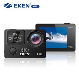 Atacado H6s 4 K + Ultra HD 14MP com EIS Esporte Remoto Camcorder Ambarella A12 Chip Wifi 30 m À Prova D 'Água Panasonic Sensor de Ação câmera de