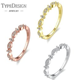 Минималистская ювелирная мода онлайн-Тип ювелирных изделий творческий минималистский мода Циркон кольцо Женский для женщин свадьба участие