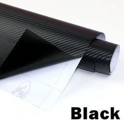 envoltura de vinilo impermeable Rebajas Película de vinilo de fibra de carbono 3D 3M coche impermeable DIY Auto vehículo Car Styling Wrap Roll Car Styling motocicleta