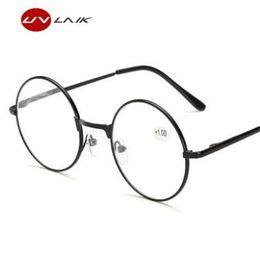 UVLAIK Gafas de Lectura para Espectáculos Redondos para Harry Potter Gafas de Marco de Metal Espejo Sencillo Presbicia Hombre Hembra Lectura de Cristal desde fabricantes