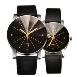 Zegarki Meskie Moda Gran Dial Hombres Mujeres Casual Reloj de Cuarzo Reloj  de pulsera de cuero Negro Reloj de los amantes Reloj relogio masculino 15a096ff78e