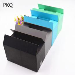 2019 крафт-картон Черный / серый / синий / зеленый крафт гофроящики картонные ящики экспресс подарок / аксессуары / косметическая упаковка упаковочная коробка дешево крафт-картон