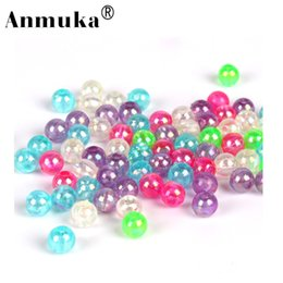 Wholesale glow soft lures - Anmuka Hot Selling 100Pcs Glow Fishing Block Bead Soft Lure 5 Colors Fishing Accessories