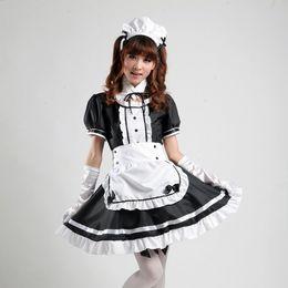 2019 destino ficar noite jogo História de Xangai Anime role-playing Akihabara cosplay roupa empregada Comic Costumes maid cosplay mulheres menina lolita vestido uniforme