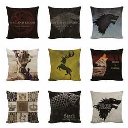 Logo surround en Ligne-Chevet Pillow Flax Movie et TV avec le même logo tribal de puissance et de jeu entouré par taie d'oreiller