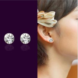 indian products wholesale price Canada - Senior designer of new products 2018 high quality and low price Anti allergic crystal diamond earrings Girlfriend birthday New Year gift