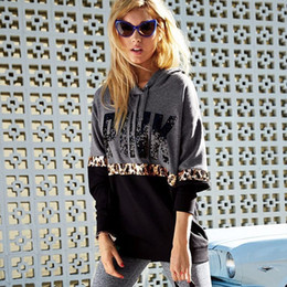 2018 explosion models Europe and the United States autumn new PINK letters  pattern hooded style women s long sleeve 03e091323