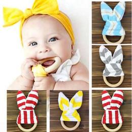 Mordedor do bebê dente molar anel de argola orelhas de coelho dente de borracha mão chocalhos dentes exercício brinquedos de