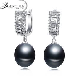 2019 fil étoile rouge Boucles d'oreilles en perles d'eau douce naturelles pour les femmes, cadeau de fête perles de mariée en argent sterling 925
