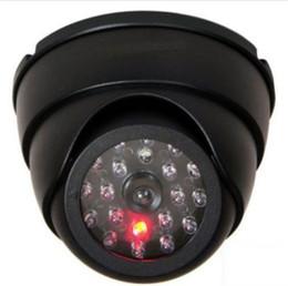 Wholesale dummy cctv camera - Dummy Dome Fake Security Camera CCTV 30pc False IR LED W  Flashing Red LED Light