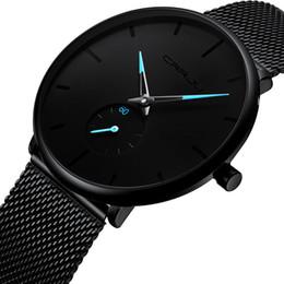 2019 relógios simples para homens Homens de luxo da marca de moda de alta qualidade relógio de quartzo design simples ultra fino dial aço inoxidável milan malha pulseira relógios à prova d 'água desconto relógios simples para homens