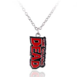 dead pendant Promo Codes - Siver Plated The Walking Dead Pendant Necklace Jewelry Bow and Arrow Fashion Accessories Necklaces Zombie Unisex Necklace