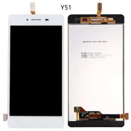 Дигитайзер экрана сотового телефона онлайн-Для vivo Y51 Y51A Y51L ЖК-экран панели класса AAA дисплей полный дигитайзер Ассамблеи сотовый телефон сенсорные панели горячий сенсорный экран бесплатно