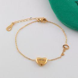 Wholesale Circle Diamond Pendant White Gold - New arrival 316L Titanium steel bracelet with heart pendant for women bracelet jewelry gift Free Shipping PS6267