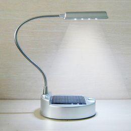 Argentina Chraged por panel solar o cable USB Lámpara de mesa LED Lámpara de reserva solar Iluminación de emergencia Batería de litio recargable 2000mAh supplier led emergency battery lithium Suministro
