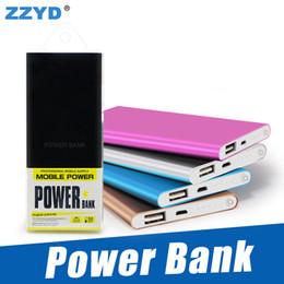 Bancos de carregadores de telefone on-line-ZZYD Portátil ultra fino powerbank 4000 mah carregador de energia banco para S8 telefone móvel Tablet PC bateria Externa