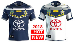 Wholesale North Blue - North Queensland Cowboys rugby Jerseys 2018 home away Jersey NRL National Rugby League nrl Jersey Australia shirt s-3xl