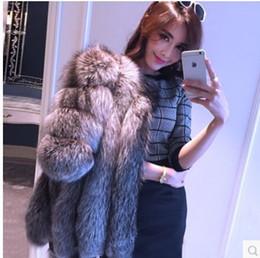 damen lederjacke lila Rabatt Marke Winter Frauen Lange Fox Mäntel Pelzigen Luxus Frauen Gefälschte Hohe Qualität Faux Pelzmantel Jacke S112
