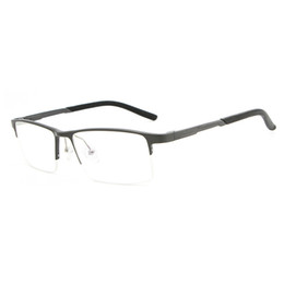 f720247a0d Vazrobe Aluminium Eyeglasses Frame Men Clear Plain Eyeglass Prescription  Spectacles Frames for Man Spring Hinge Wide Half Rim