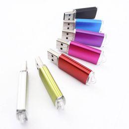 Wholesale Usb Flash Disk 1gb - USB Flash Drive Metal Thumb Stick USB2.0 1GB 2GB 4GB 8GB 16GB U Disk for Storage Car Music Wedding Photos