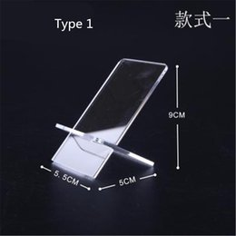 acrylic mobile phone displays Promo Codes - Transparent Display Stand Acrylic Mount Tablet Phone Holder for mobile phone