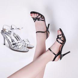 dc24703a3cbb6 simple heels sandals Australia - Summer Leather Sandals Stiletto Female  2018 Sexy High Heel Open Toe