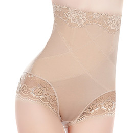 Wholesale Lady Bodysuits Lingerie - Women High Waist Sexy Slimming Underwear Panties Shapewear Briefs Lady Thin Abdomen Hips Lace Lingerie Body Shapers Corset