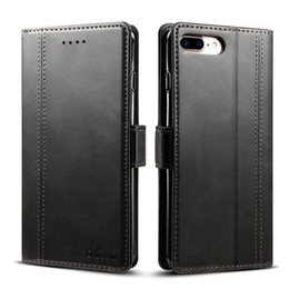 Wholesale Phone Money Wallet Case - Wallet Case For iPhone 8 Plus Flip Cover With Card Money Pocket Stand Clasp Business Phone Cases For iPhone8