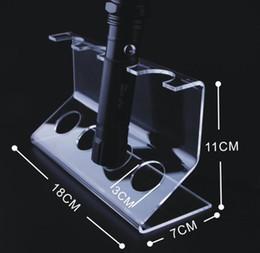 lanterna clara Desconto 4 Bits de Acrílico Claro lanterna de luz de Exibição de Suporte de Luz de Bicicleta Frente Levou suporte de Farol prateleira de Lanterna de Caça