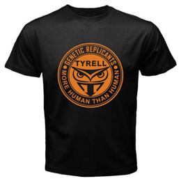 Argentina New Blade Runner Tyrell Corp Retro Movie Logo Camiseta negra para hombre Talla S-3XL Camiseta de manga corta para hombre Suministro