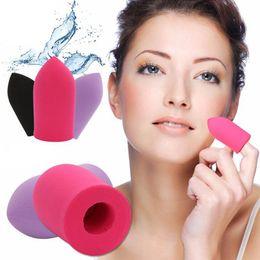 Губчатые конструкции онлайн-Новый дизайн 1 шт. палец слоеного макияж Puff Фонд смешивания порошка Puff пуля губка макияж инструмент