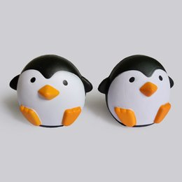 Wholesale Penguin Dolls - 2017 New Arrival Jumbo Squishy Penguin Kawaii Cute Animal Slow Rising Sweet Scented Vent Charms Bread Cake Kid Toy Doll Gift Fun