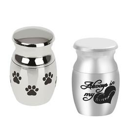 Urne in miniatura online-2 pezzi Mini Keepsake Urn Miniature Funeral Cremation Urn Pet Ashes Holder