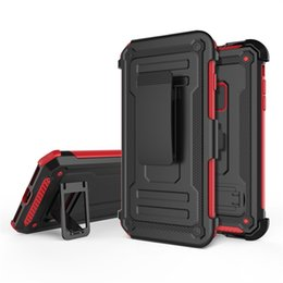 cell phone case belt clip Promo Codes - For Iphone x cell phone accessories cases car holder mobile case shockproof hybrid tpu+pc with belt clip phone case
