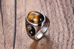 2019 кольцо для пальцев глаз Мужские 925k штампованные посеребренные Титана кольцо из нержавеющей стали палец кольца с тигровый глаз камень группа кольцо дешево кольцо для пальцев глаз
