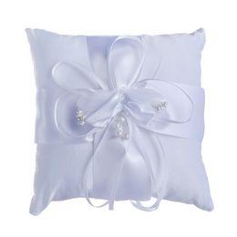 cestas de flores para casamentos Desconto Travesseiros Anel de Casamento Marfim suprimentos de casamento menina Flor cesta das crianças Barato Lace nupcial e noivo anéis travesseiro